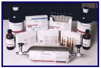 Laboratory grade and N.I.S.T. traceable standards buffers, reagents, HPLC solvents, mobile phase solutions and many more from Acacia gum to Zobell redox buffer.